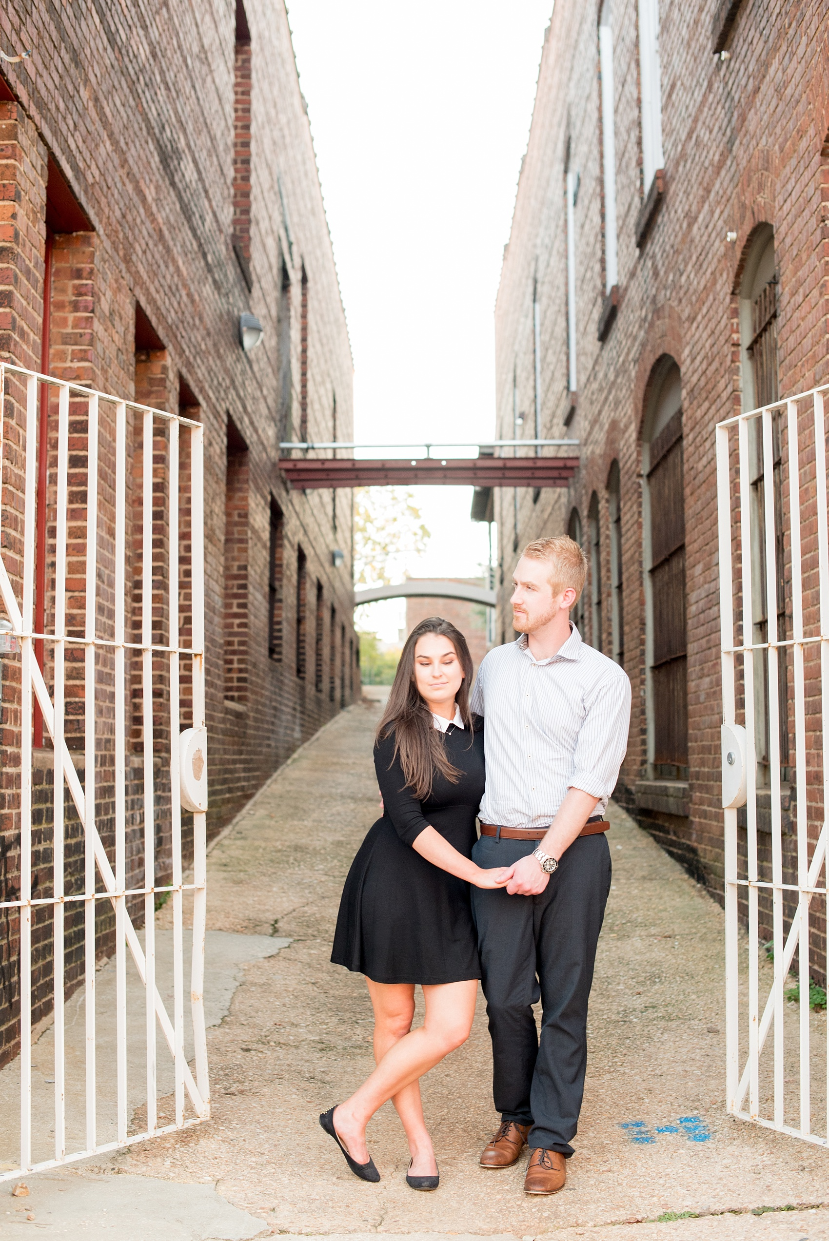 Mikkel Paige Photography photos of a downtown Raleigh engagement session.