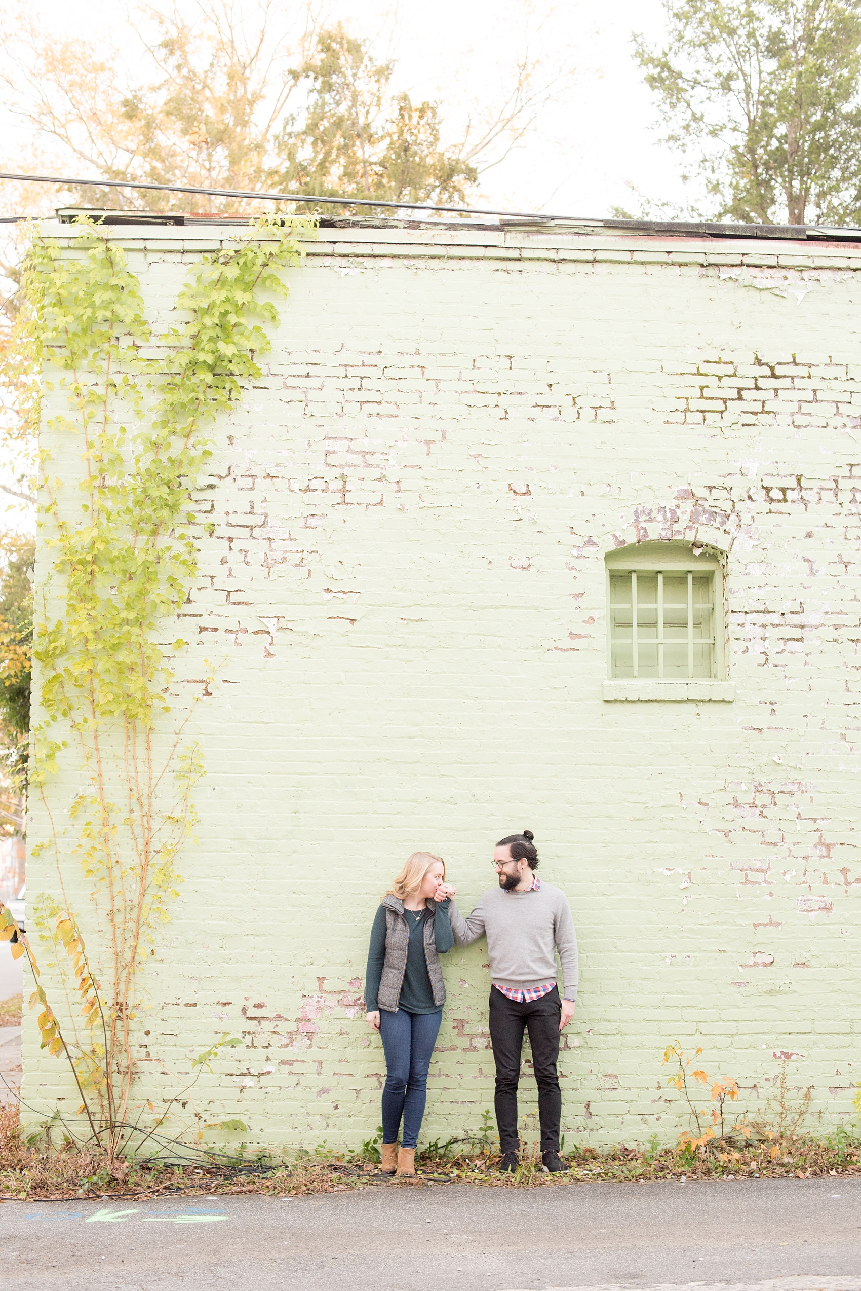Mikkel Paige Photography photos of a downtown Durham engagement session.