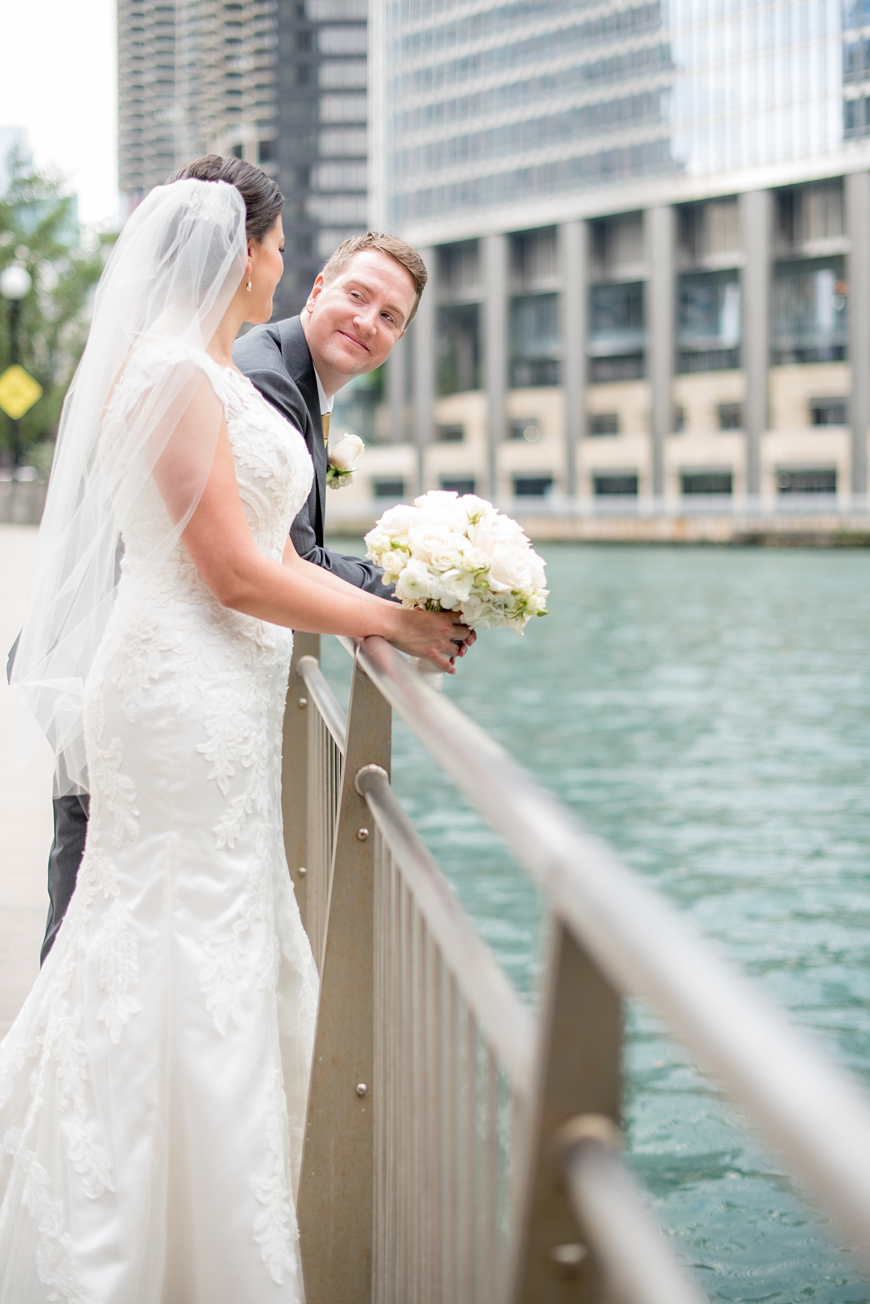 Downtown Chicago Wedding Photos at The Rookery • Shawn + Mike ...