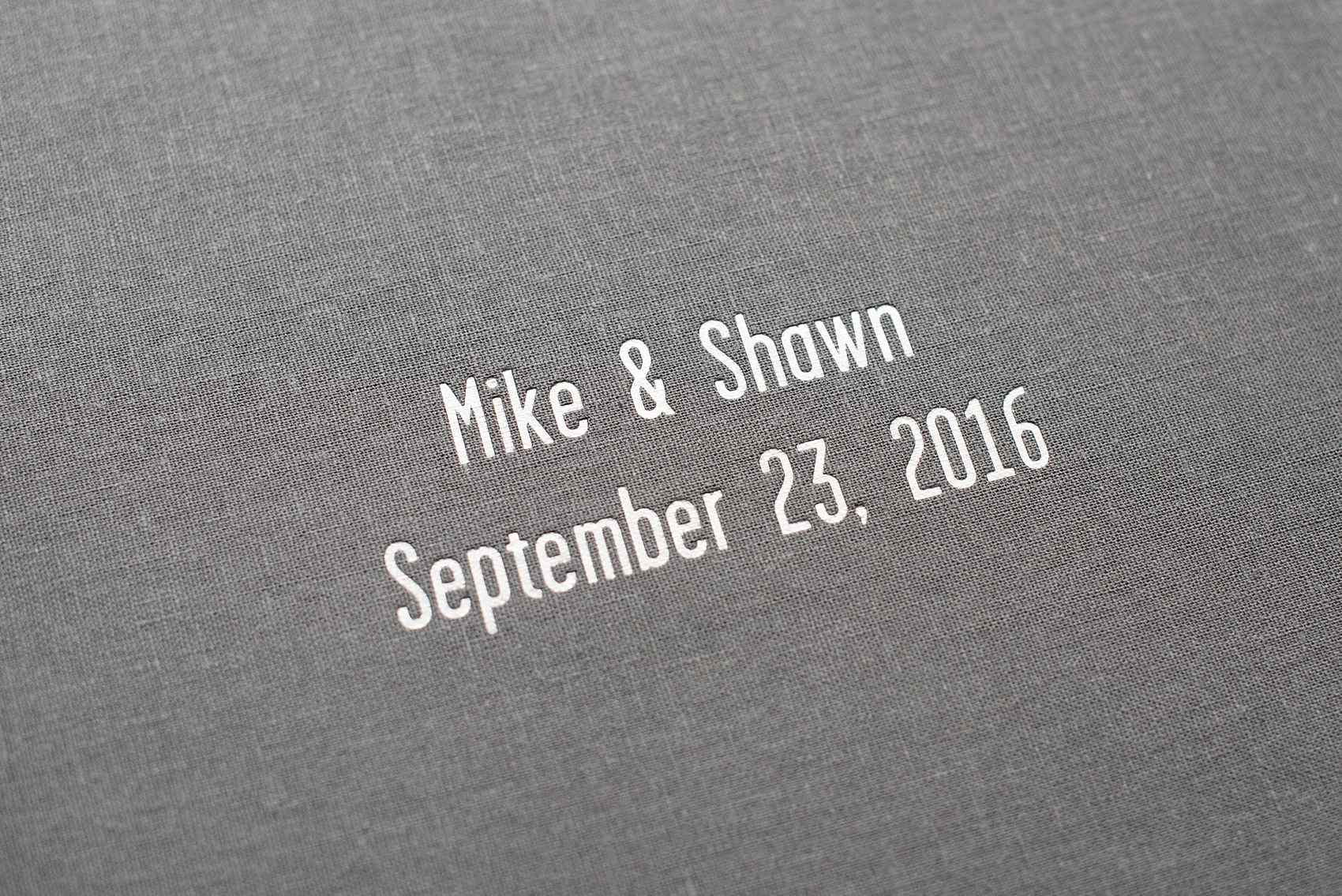 Grey Linen Signature Album Shawn Mike Nyc And Raleigh Wedding