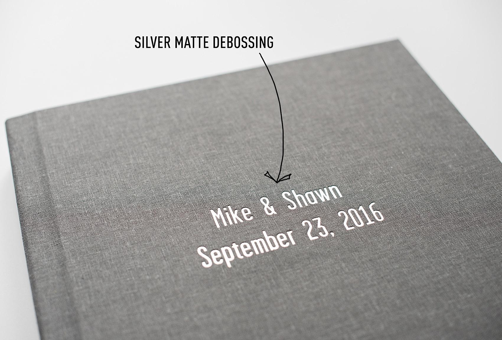 silver photo albums