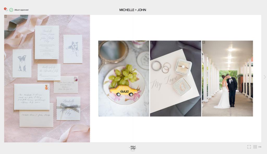 Mikkel Paige Photography wedding album options explained.