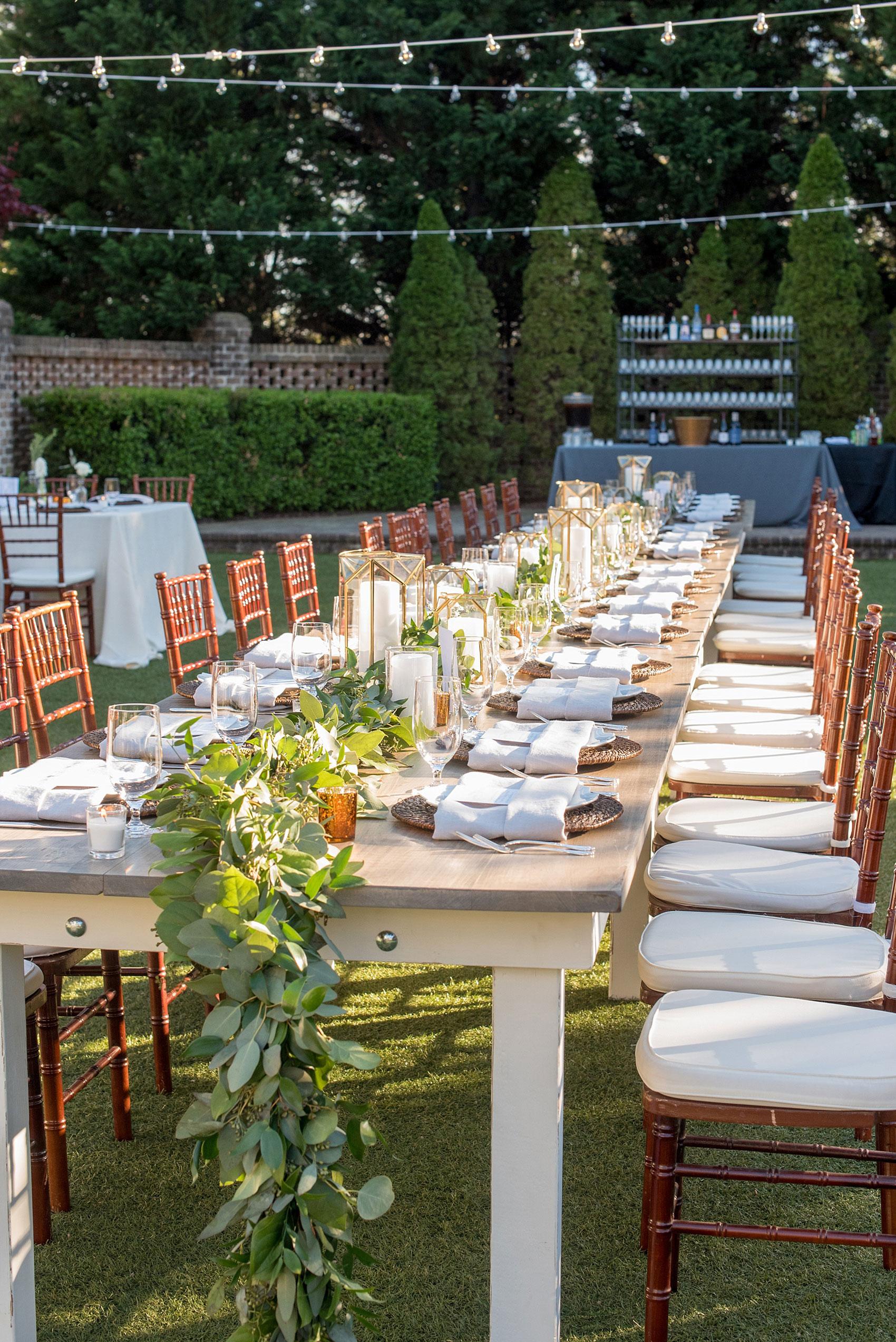 The Sutherland Wedding Photos Wake Forest North Carolina - Farm table wake forest nc