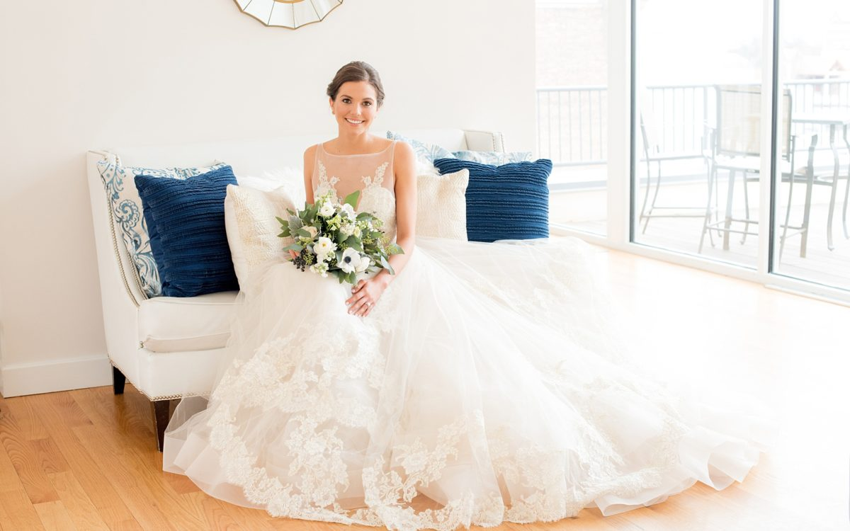 The Glass Box Raleigh Wedding Photos • Blue and White Inspiration