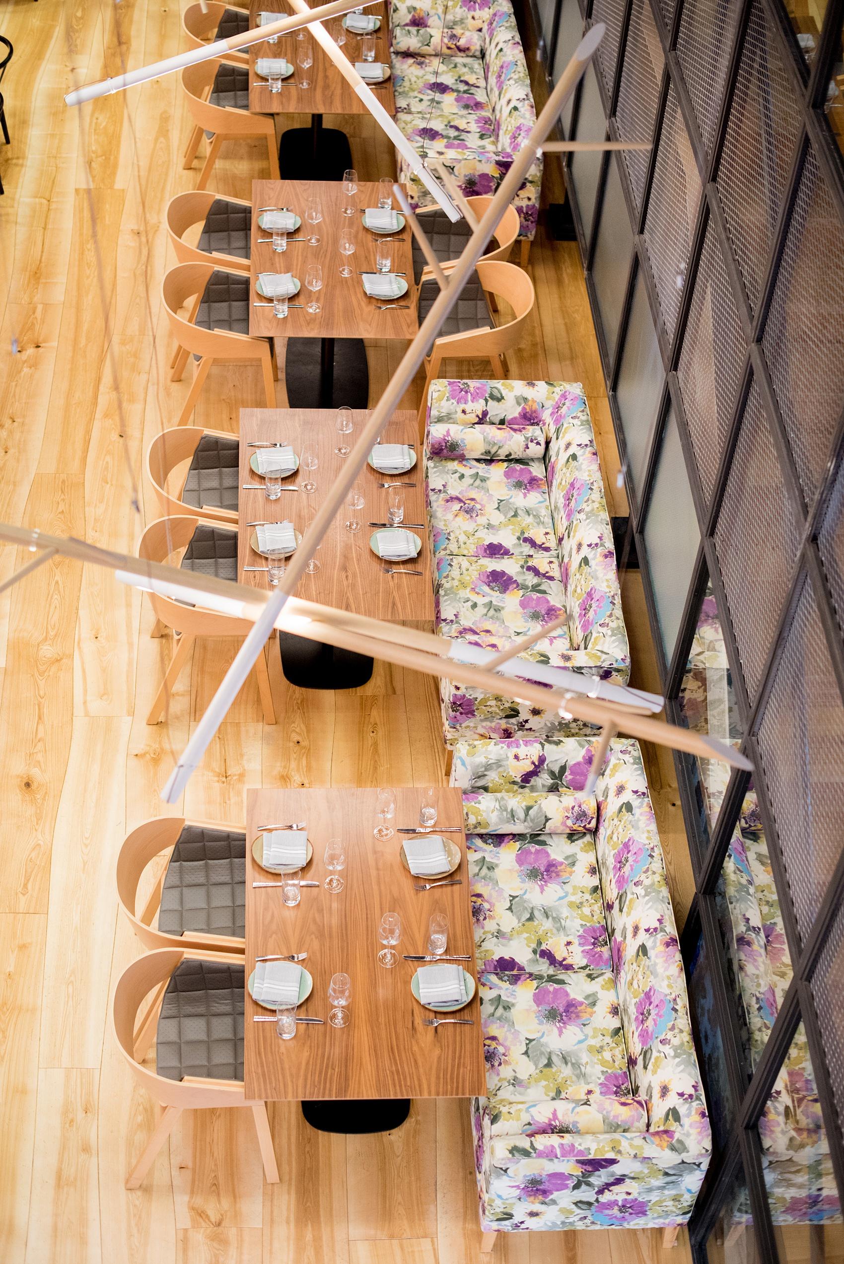 Photos of Vidrio restaurant in Raleigh, NC by Mikkel Paige Photography. Wedding venue in North Carolina with mediterranean and Spanish inspired art and interior design.