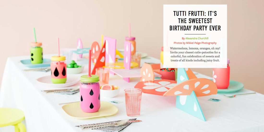 Sensational Colorful Tutti Frutti Party On Martha Stewart Funny Birthday Cards Online Overcheapnameinfo
