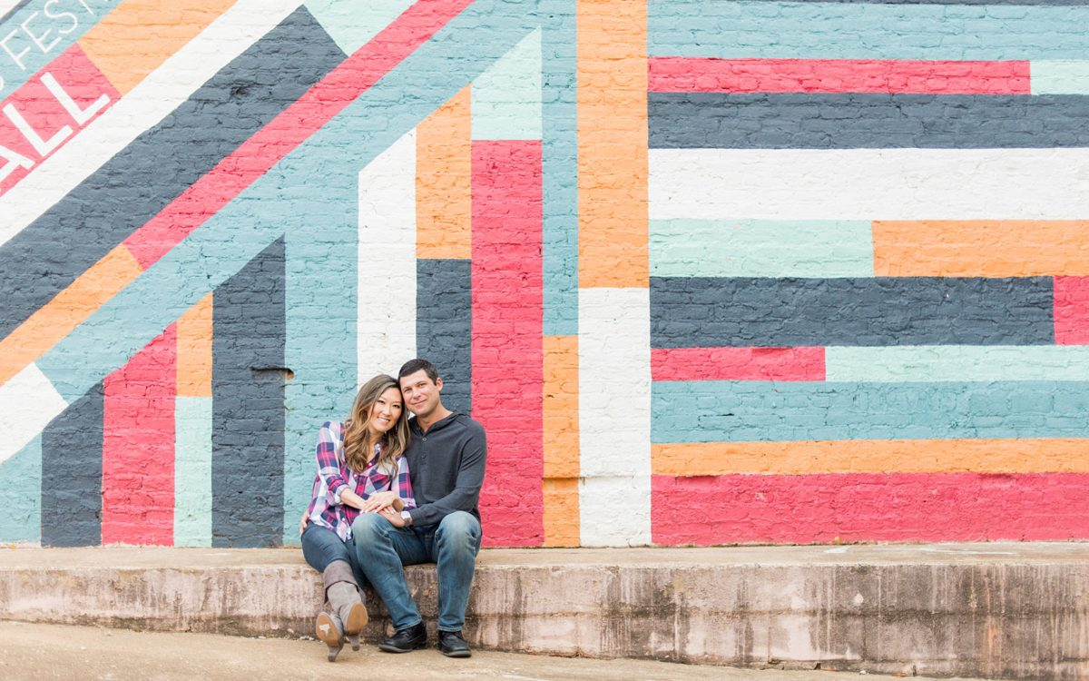 Colorful Downtown Raleigh Anniversary Session • Part 2: Jeanne + Jonathan