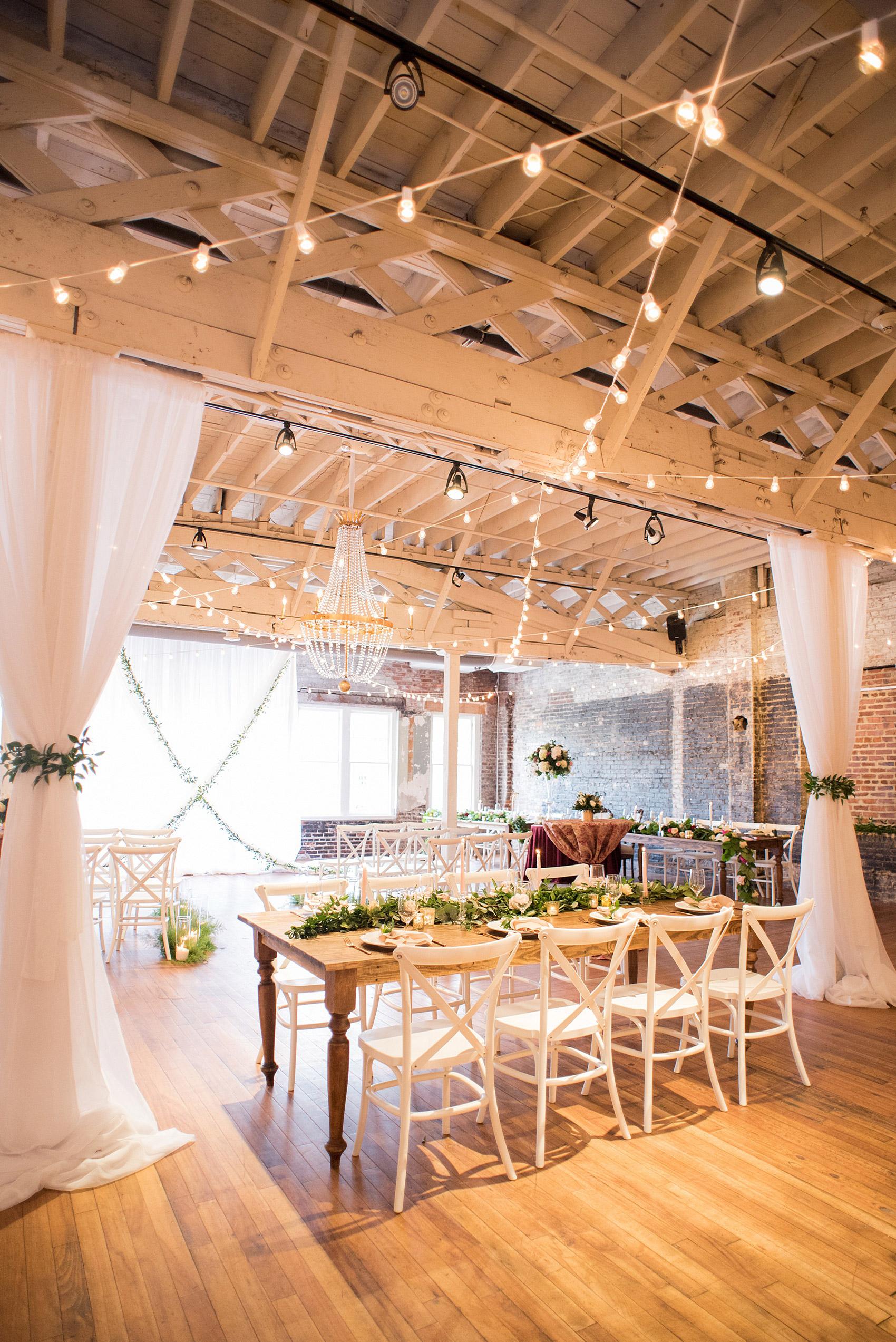 downtown raleigh wedding venue winter inspiration
