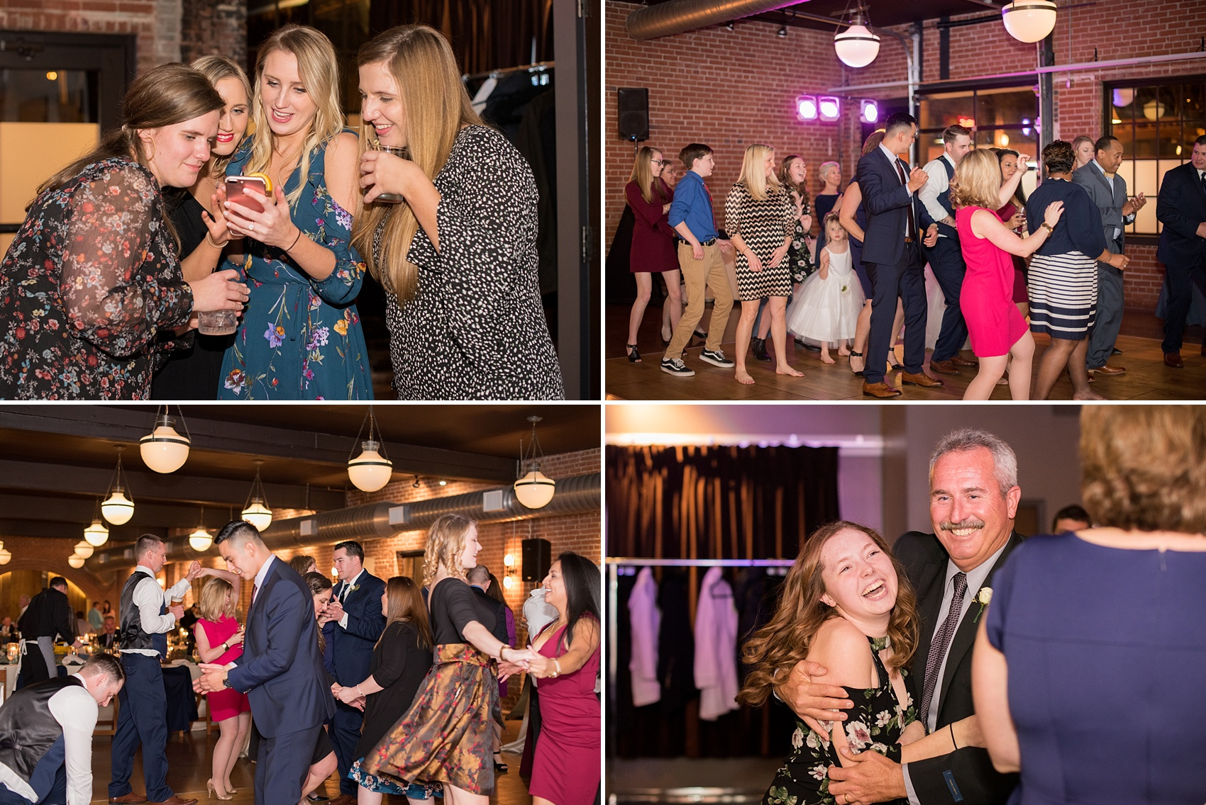 Durham wedding photos at The Cookery by Mikkel Paige Photography in North Carolina. The indoor reception had a DJ and a lot of dancing!