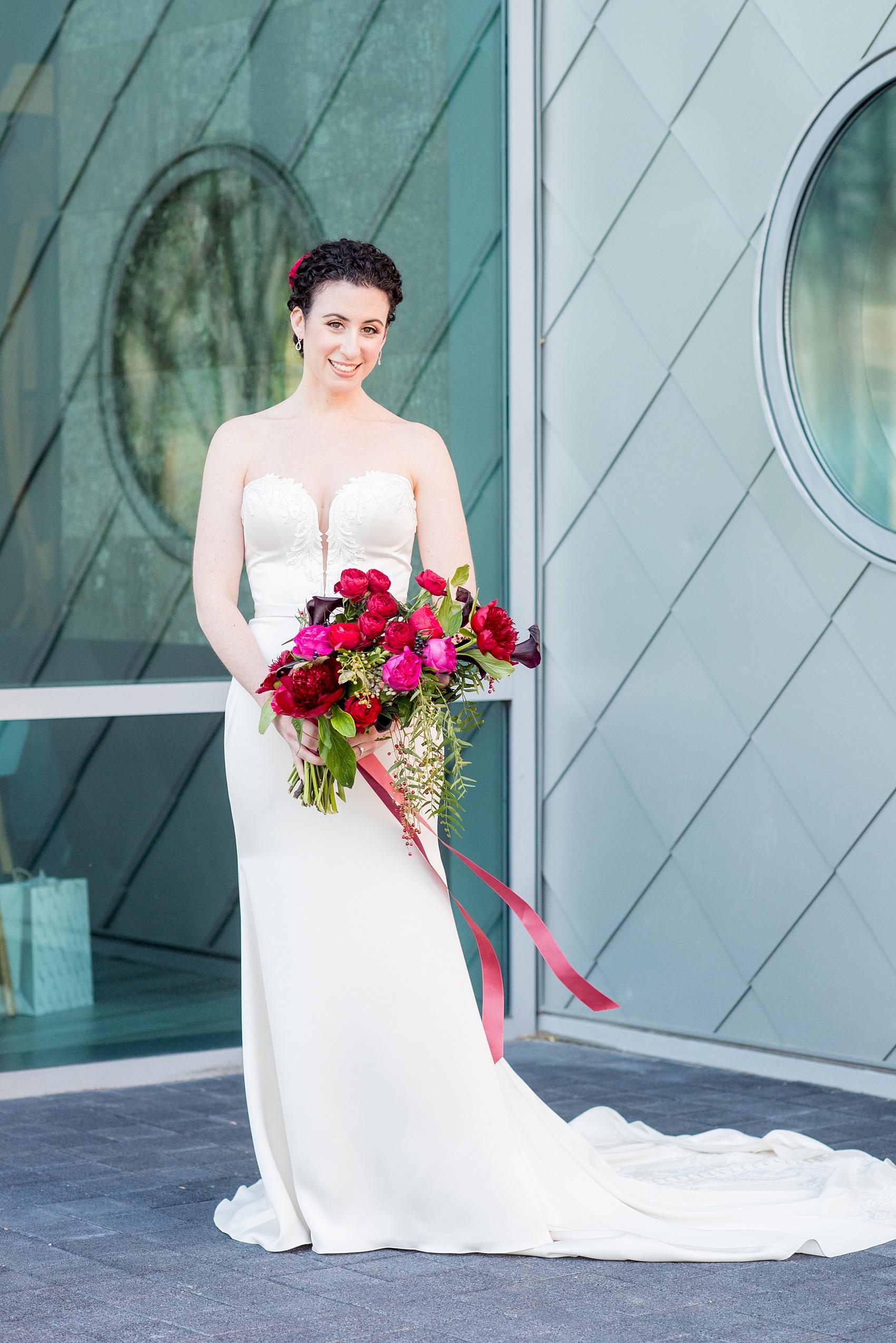 W Hoboken wedding photos with a Manhattan Skyline view