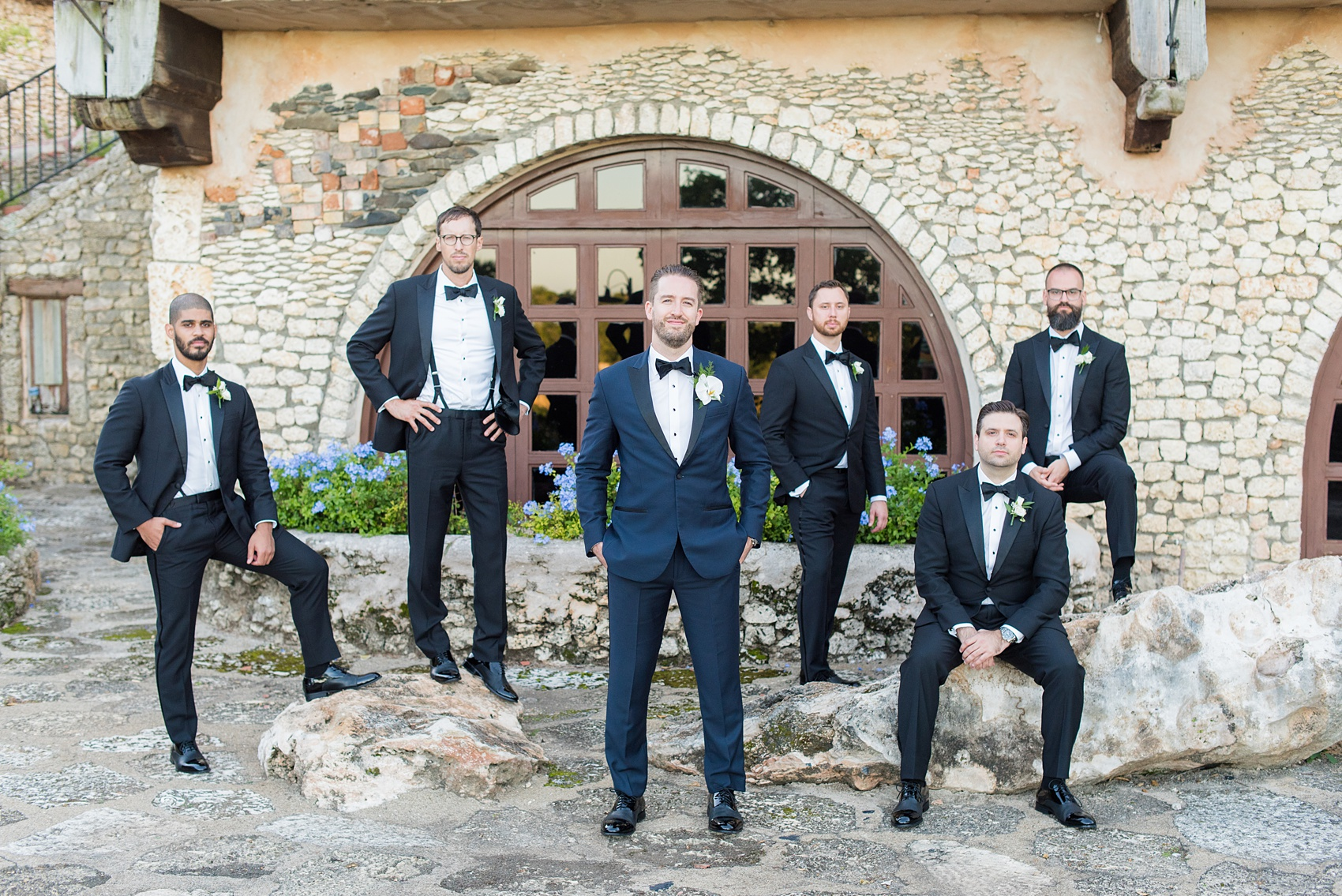 If you're planning a destination wedding Casa de Campo in the Dominican Republic is a great location. It's in La Romana, an hour from Punta Cana, and is an all inclusive resort with tropical Minitas beach and mountains view. It's a beautiful venue, which these pictures by Mikkel Paige Photography prove. Click through for more bridesmaids, groomsmen and wedding party ideas! Coordination by @theeventeur, makeup by NYC Beauty Clique. #mikkelpaige #weddingparty #navybluewedding