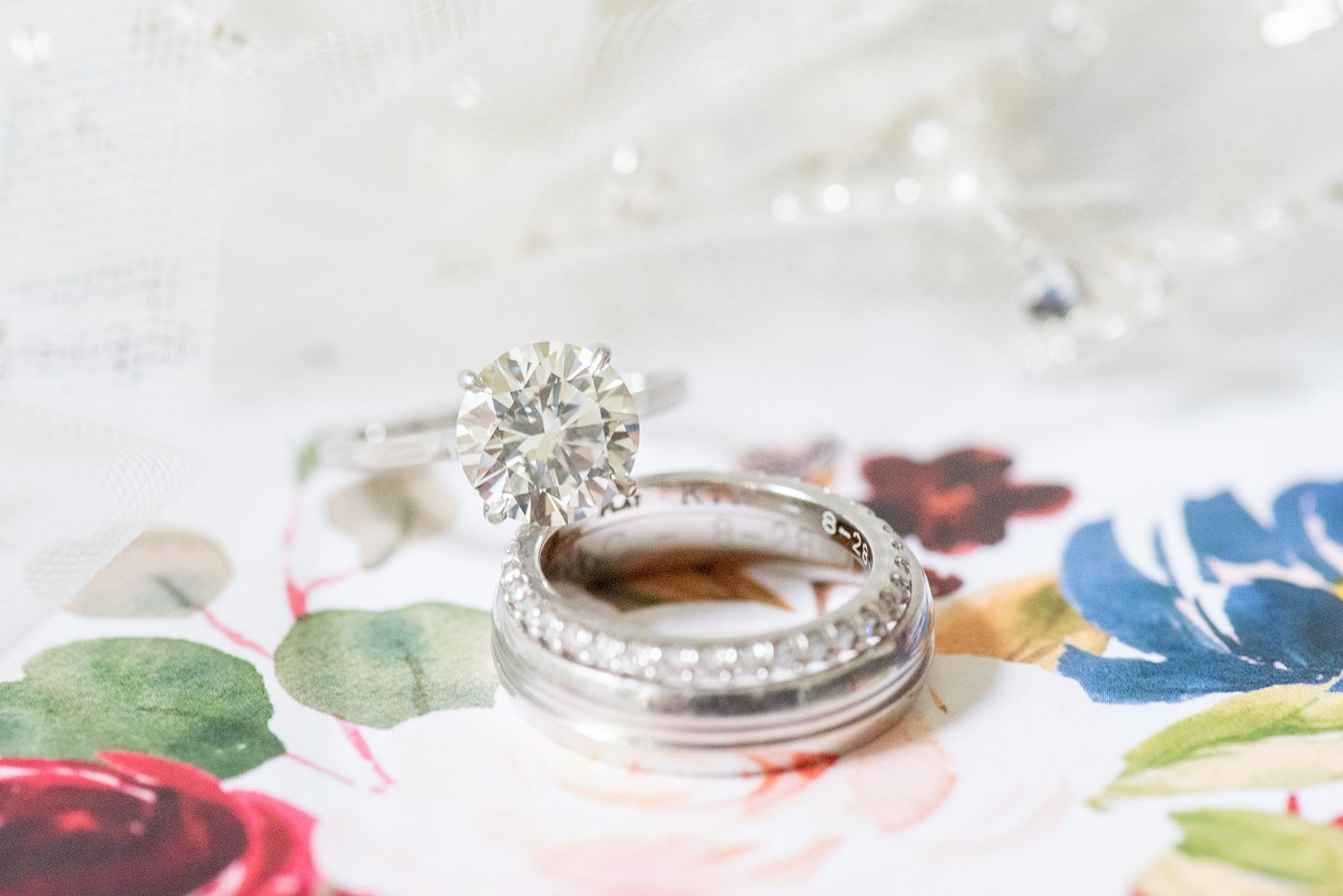 New York Botanical Garden wedding photos by Mikkel Paige Photography. The bride and groom had white gold and diamond wedding rings. After the couple's engagement photoshoot in Manhattan I was so excited for their fall wedding near the Conservatory at the Terrace Room, at this NYC venue. #mikkelpaige #nybg #asianbride #redweddinginvitation #weddingshoes #newyorkbotanicalgardenwedding #NYBotanicalGarden #Bronxwedding #newyorkcityweddingvenue #bridestyle #detailphotos #weddingrings