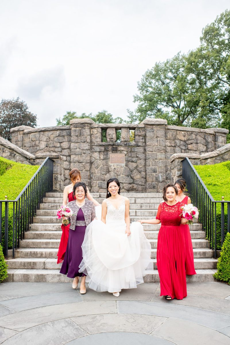 New York Botanical Garden wedding photos by Mikkel Paige Photography. After the couple's engagement photoshoot in Manhattan I was so excited for their fall wedding near the Conservatory at the Terrace Room, at this NYC venue. #mikkelpaige #nybg #newyorkbotanicalgardenwedding #asianbride #NYBotanicalGarden #Bronxwedding #newyorkcityweddingvenues
