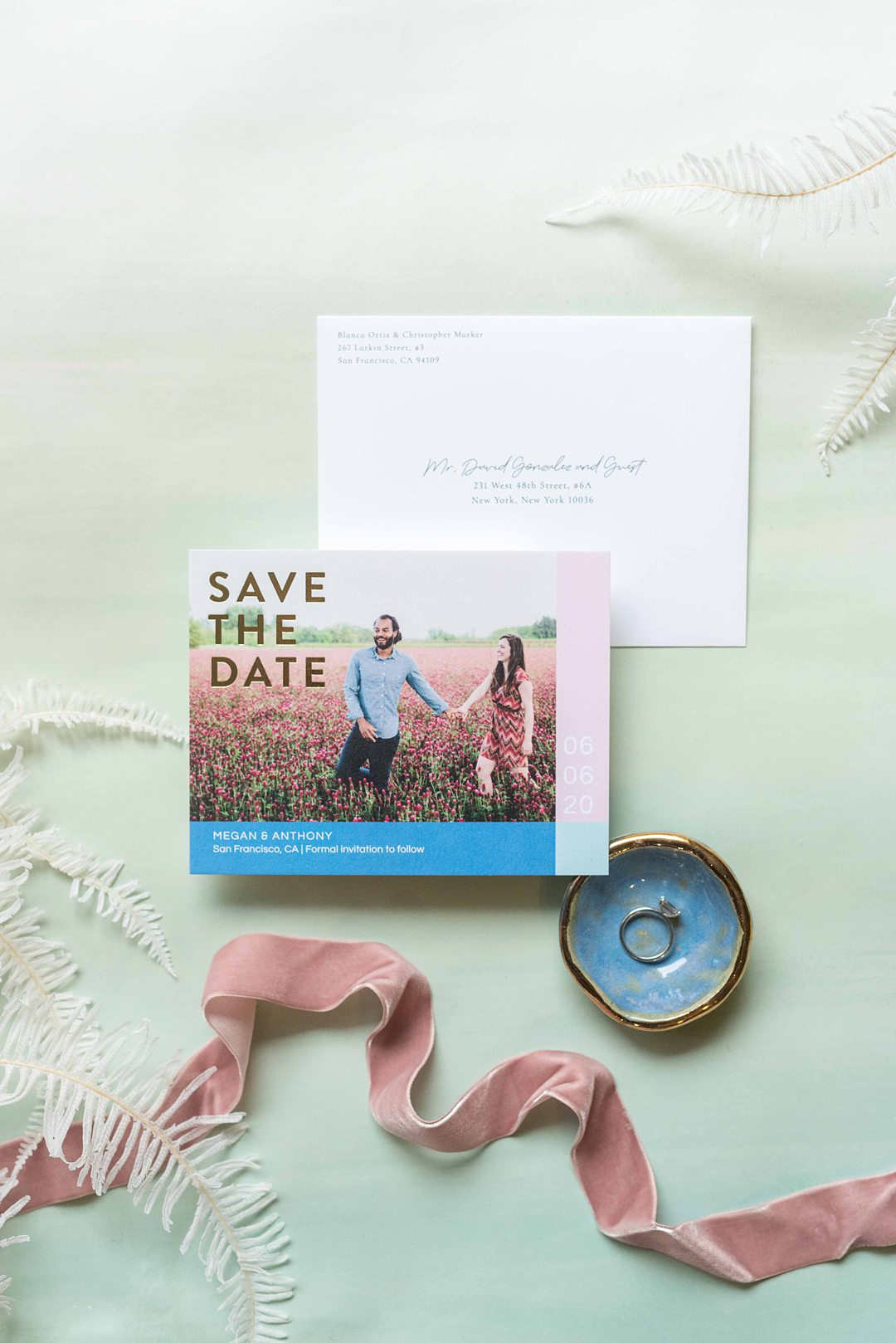 Stationery offered by Zola photographed by Mikkel Paige Photography.
