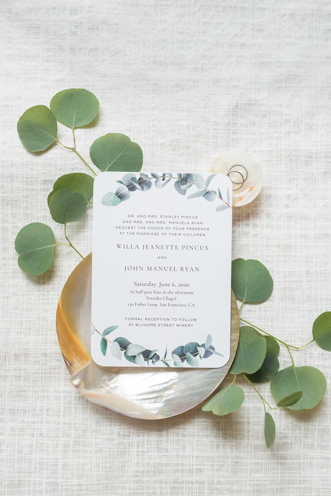 Save the Date stationery offered by Zola photographed by Mikkel Paige Photography.