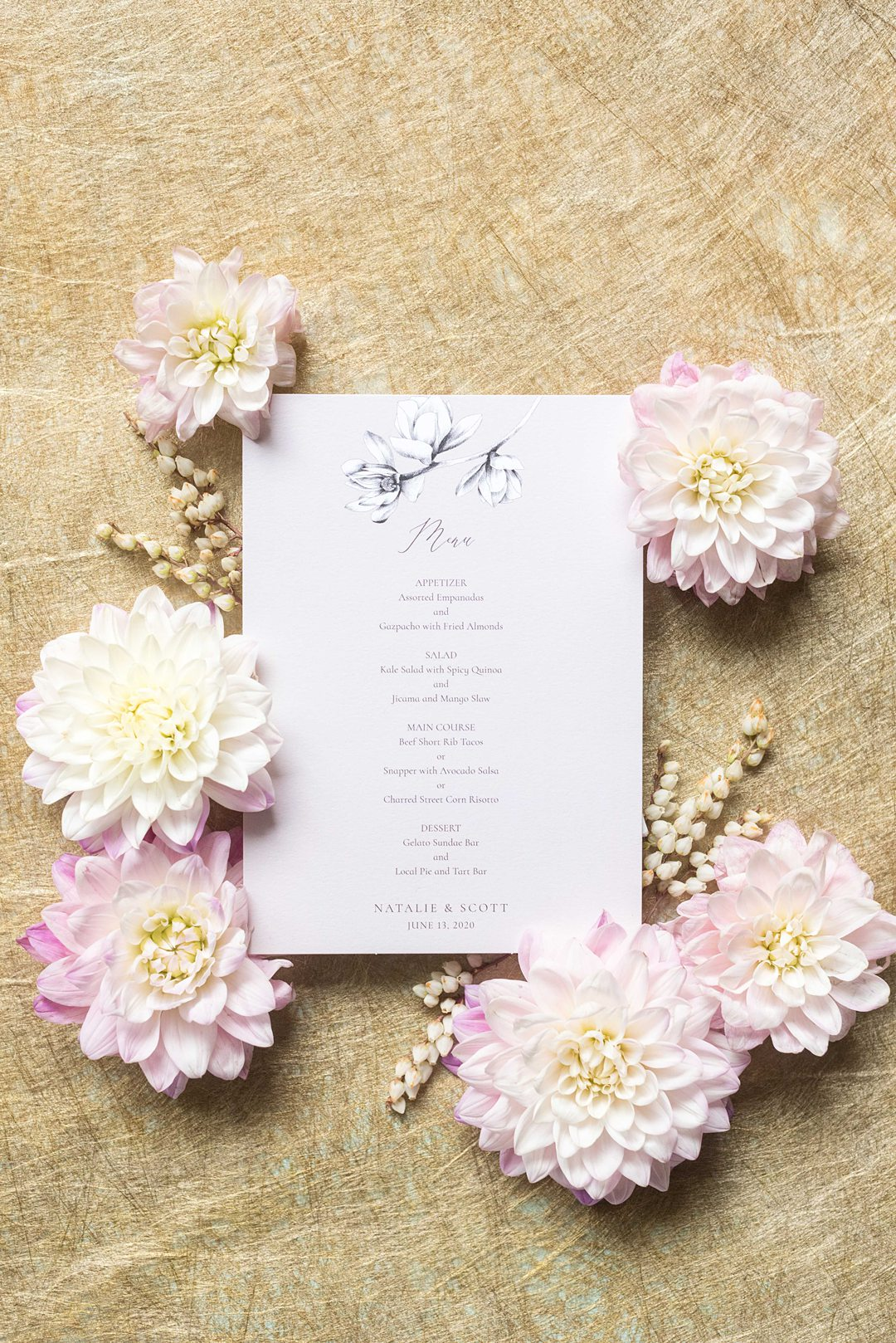 Wedding stationery offered by Zola photographed by Mikkel Paige Photography.