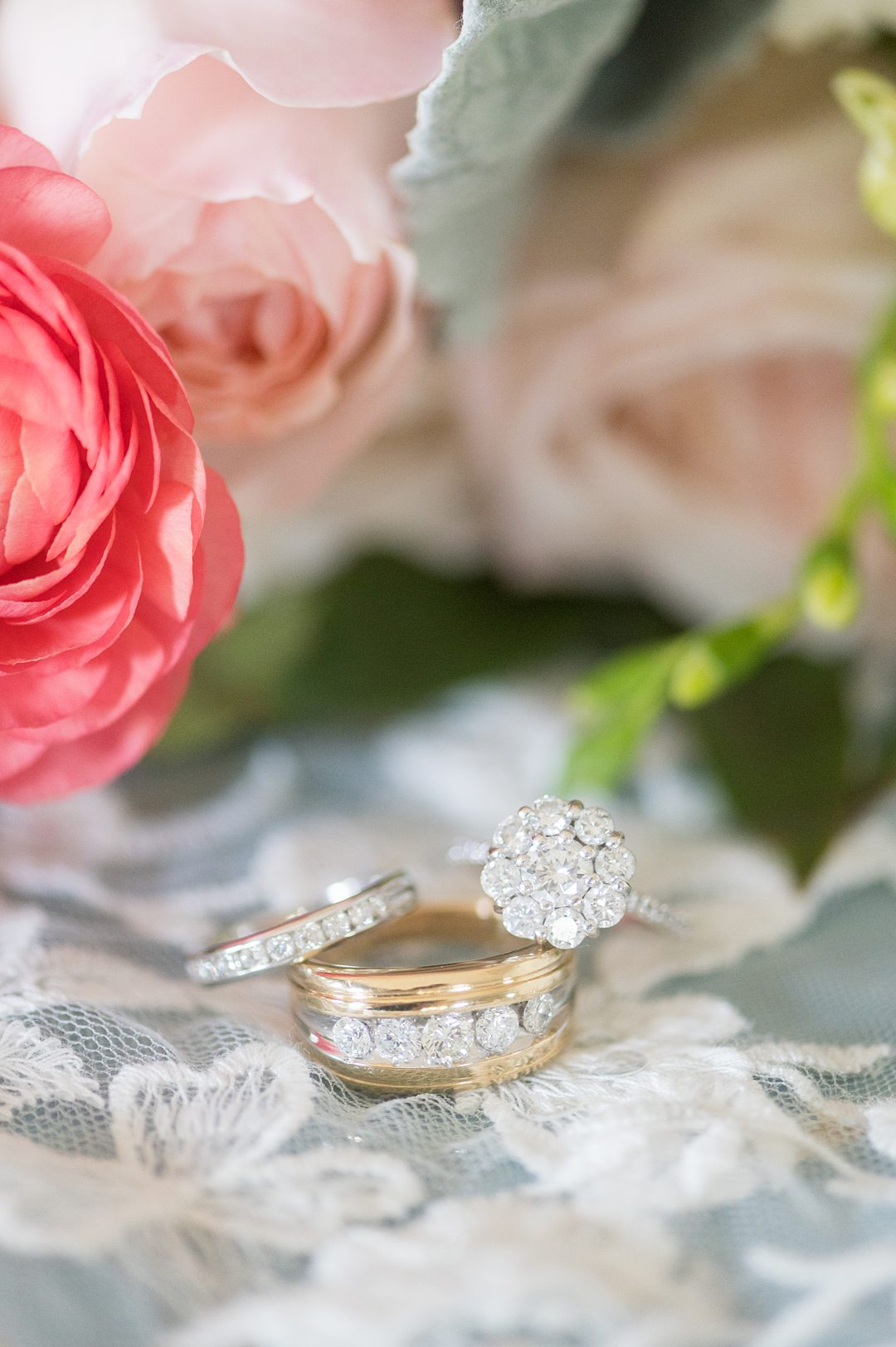 Family heirloom wedding rings for a small wedding in Charlottesville, Virginia. Detail photos by Mikkel Paige Photography. #mikkelpaige #weddingrings