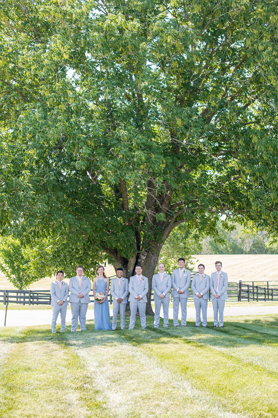 Groomsmen and wedding party for a small wedding in Charlottesville Virginia. Photos by Mikkel Paige Photography at the Lodge at Mount Ida Farm. #mikkelpaige #weddingparty #mountidafarm #charlottesvillewedding