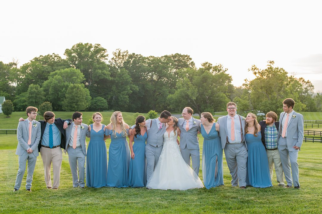 Wedding party fun during a small wedding in Charlottesville, VA. Pictures by Mikkel Paige Photography. #