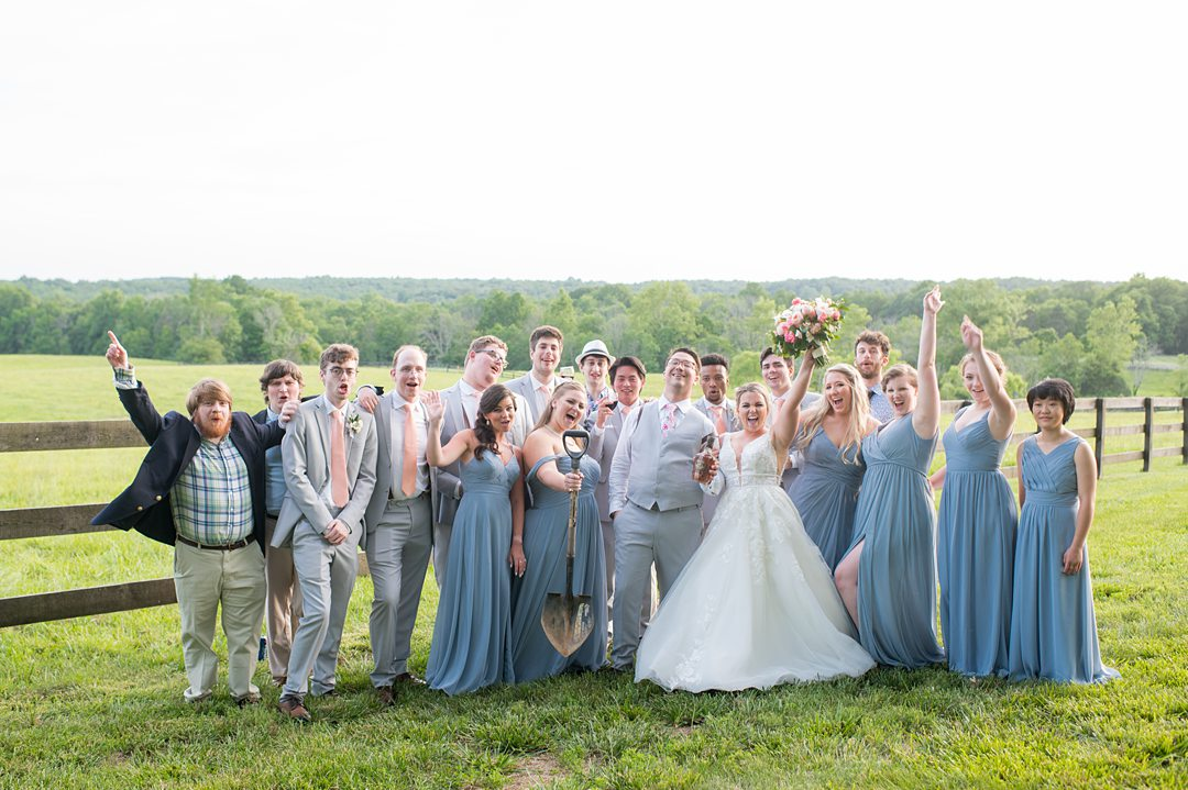 Burying the bourbon is a southern tradition this bride and groom did for their wedding in Charlottesville, VA at the Lodge at Mount Ida Farm. Photos by Mikkel Paige Photography. #mikkelpaige #charlottesvillewedding #mountidafarm