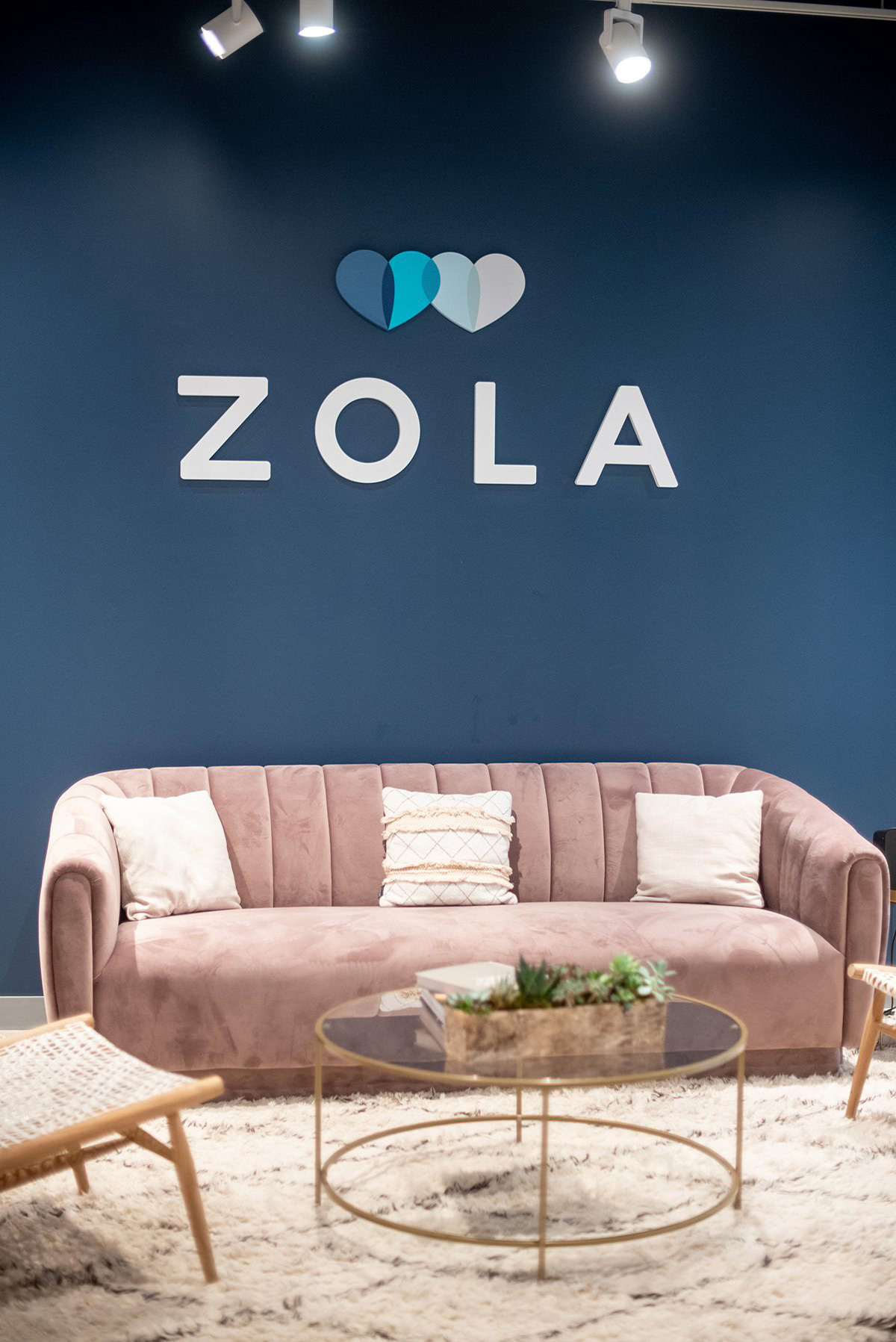 Zola headquarters in NYC. Full post of a look behind the scenes of the wedding website's offices by Mikkel Paige Photography. #zola #mikkelpaige