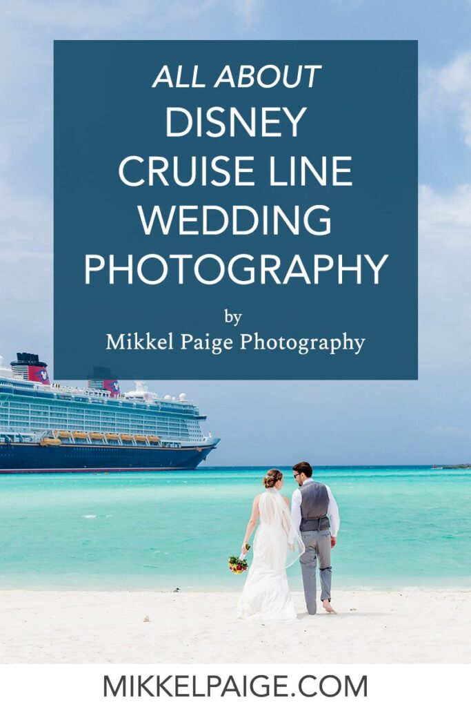 Disney Cruise Line wedding photography graphic with the Mickey Mouse icon on the cruise stack.